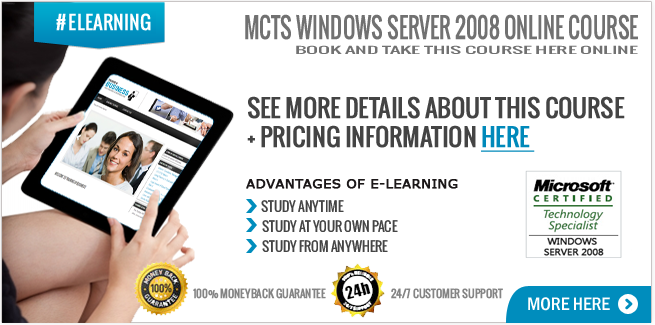 MCTS Windows Server 2008 Online Course