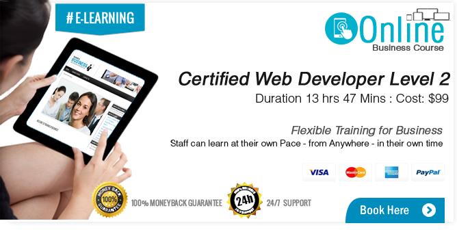 Certified Web Developer Course Level 2