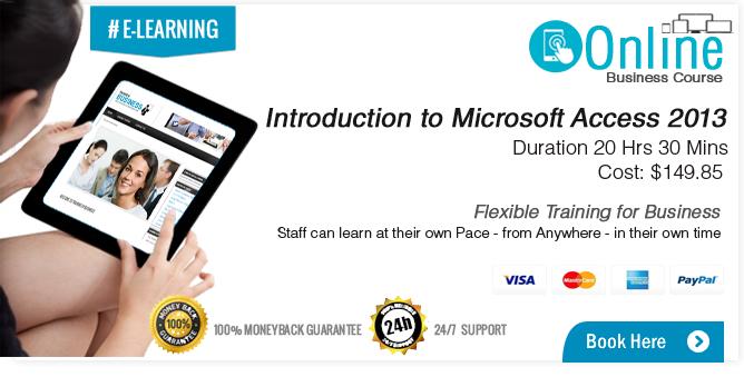 Microsoft Access 2013 Training Course